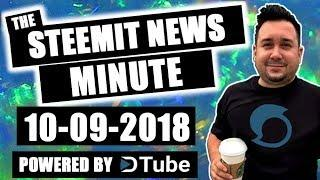 The Steemit Minute Steem Blockchain Cryptocurrency News 10-09-2018