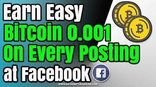 Earn Bitcoin Posting on Facebook without investment | SIDDHARTH kanojia