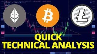 Bitcoin, Litecoin, Ethereum - Quick Technical Analysis