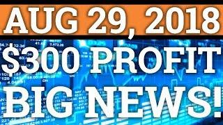 $300+ PROFIT DAY TRADING! BIGGEST NEWS FOR CRYPTOCURRENCY? BITCOIN BTC, CARDANO ADA PRICE, NEWS 2018