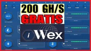 IWEX MINERIA GRATIS 200 GH/S - GANA BITCOIN, ETHEREUM, DOLARES A PAYEER