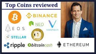 Cryptocurrency Review:  EOS, Ripple, Stellar, NEO, VeChain, Bitcoin Cash, Binance, Bitcoin, Ethereum
