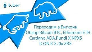 Переходим в Биткоин. Обзор Bitcoin BTC, Ethereum  ETH, Cardano ADA, Pundi X NPXS, ICON ICX, 0x ZRX.