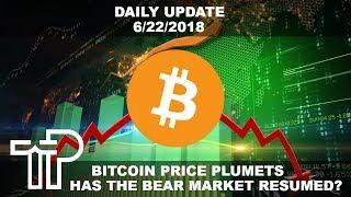 Cryptocurrency Bear Market Resumes With Massive Selling Power... But Why? | Daily Crypto Update