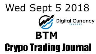 Bitmark Crypto Trading Journal Video - Sept 5 2018